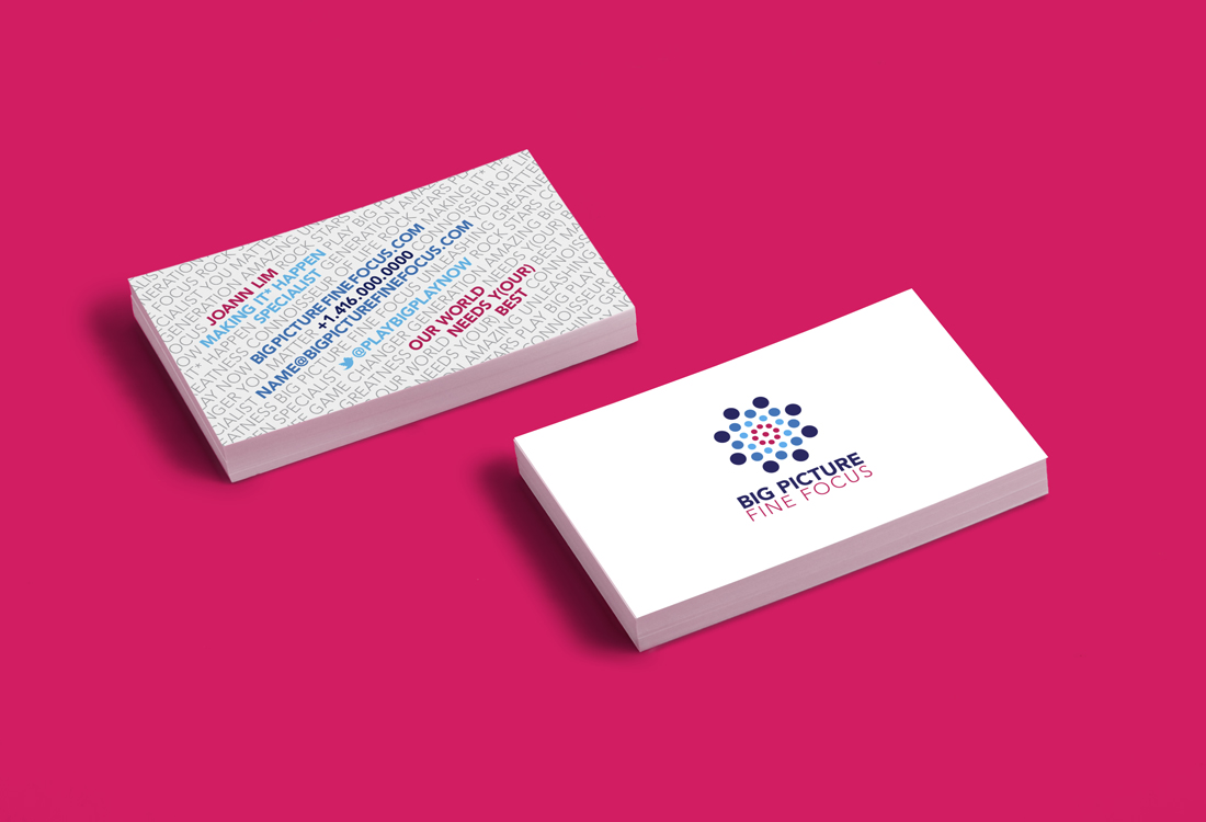 Big Picture Fine Focus business cards
