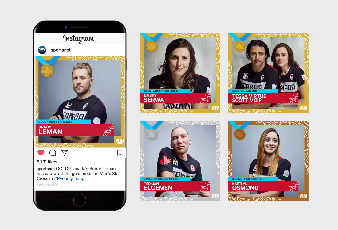 Winter Olympics instagram execution
