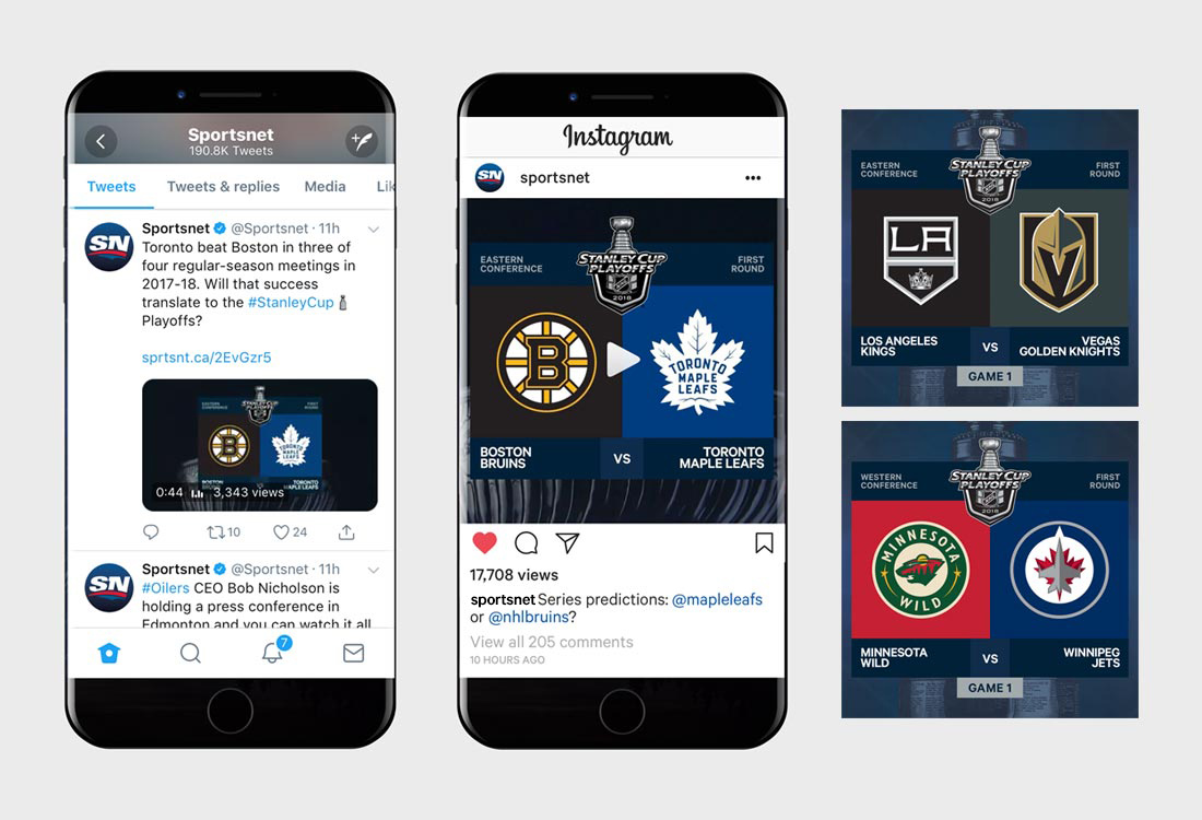 Stanley Cup Playoffs social media posts
